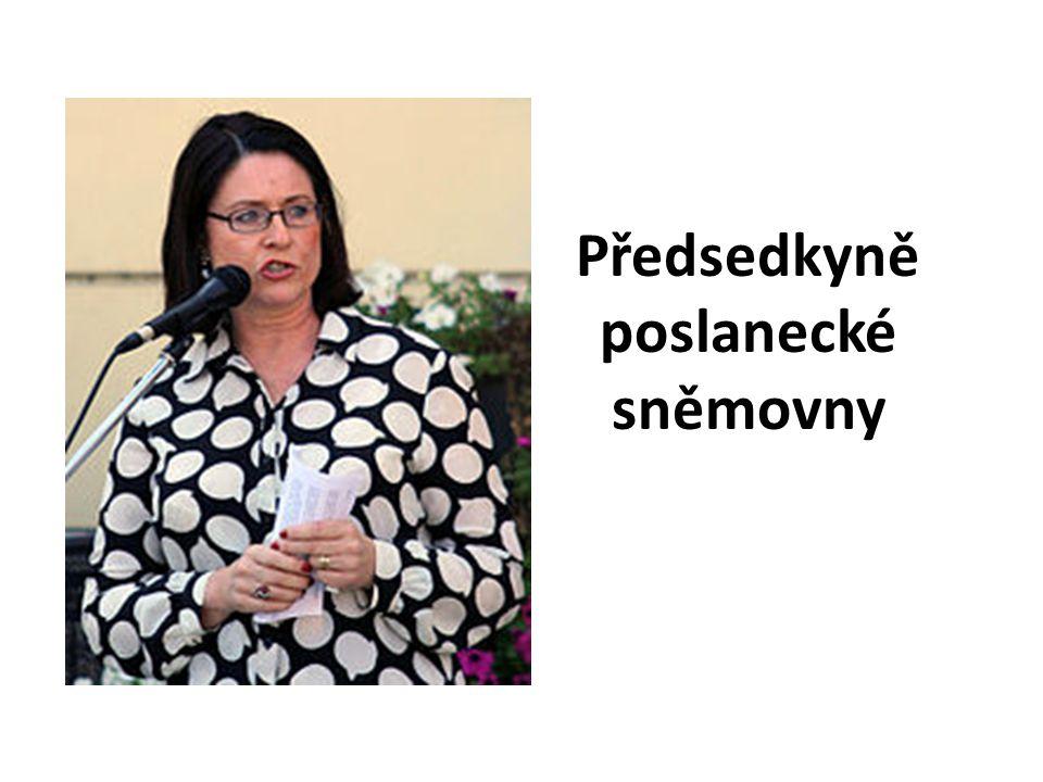 Předsedkyně poslanecké sněmovny