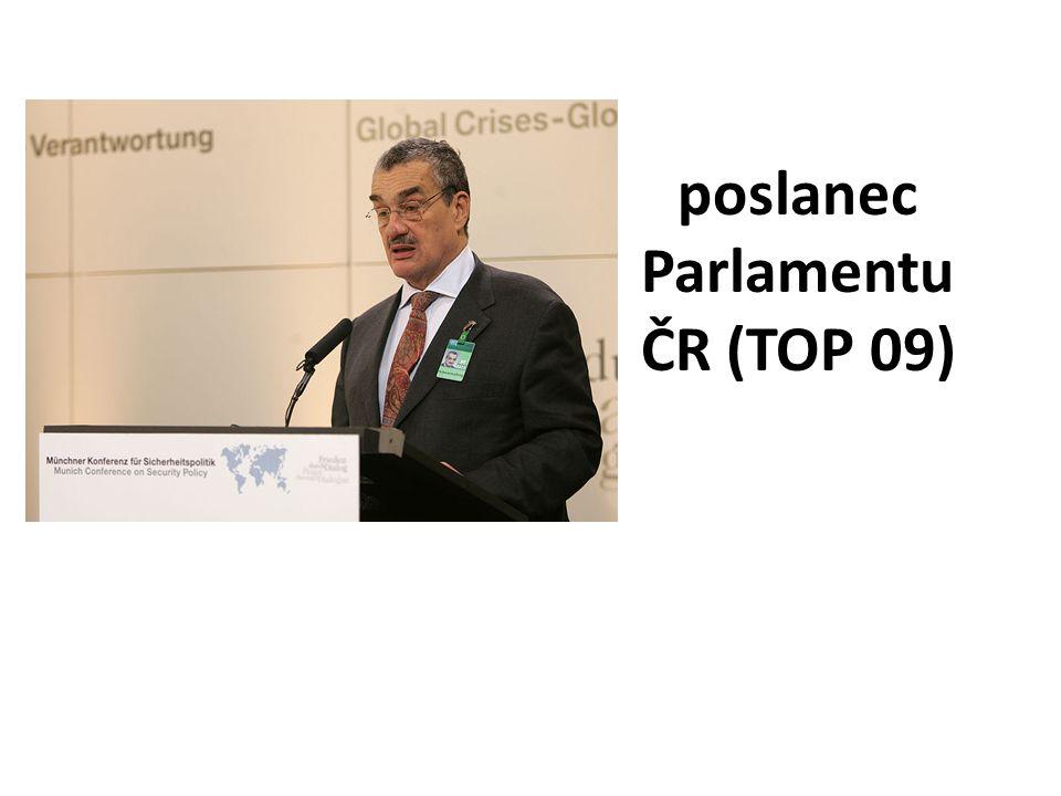 poslanec Parlamentu ČR (TOP 09)