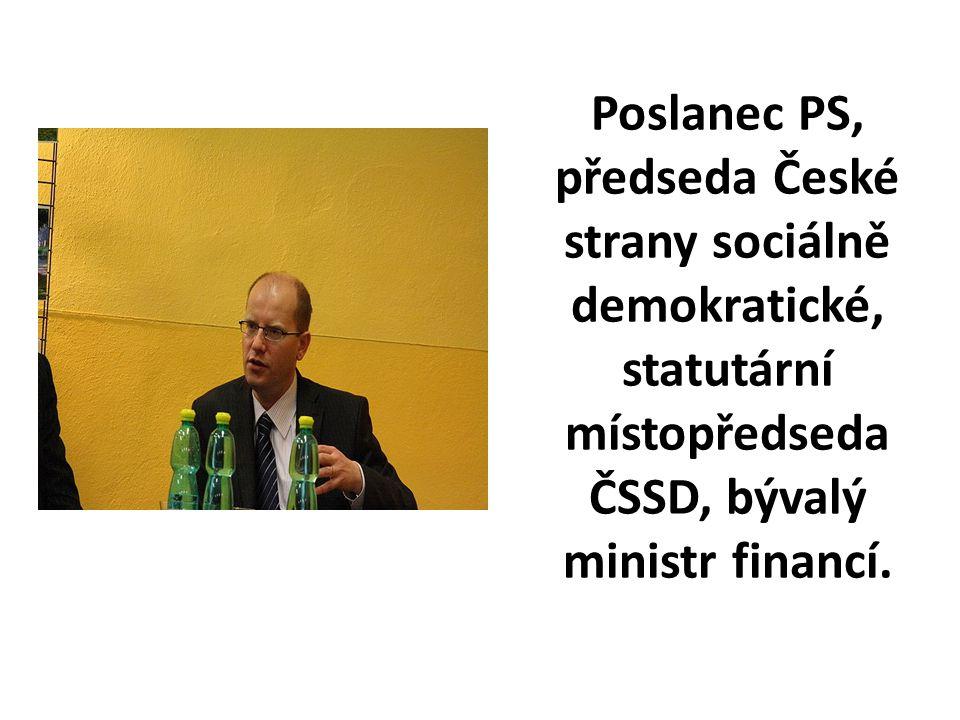 Poslanec PS, předseda České strany sociálně demokratické, statutární místopředseda ČSSD, bývalý ministr financí.