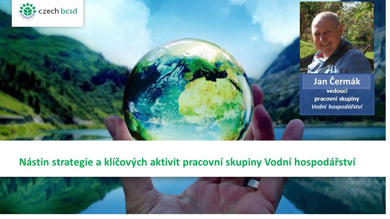 Nástin strategie a klíčových aktivit pracovní skupiny Vodní hospodářství Jan Čermák vedoucí pracovní skupiny Vodní hospodářství FOTO