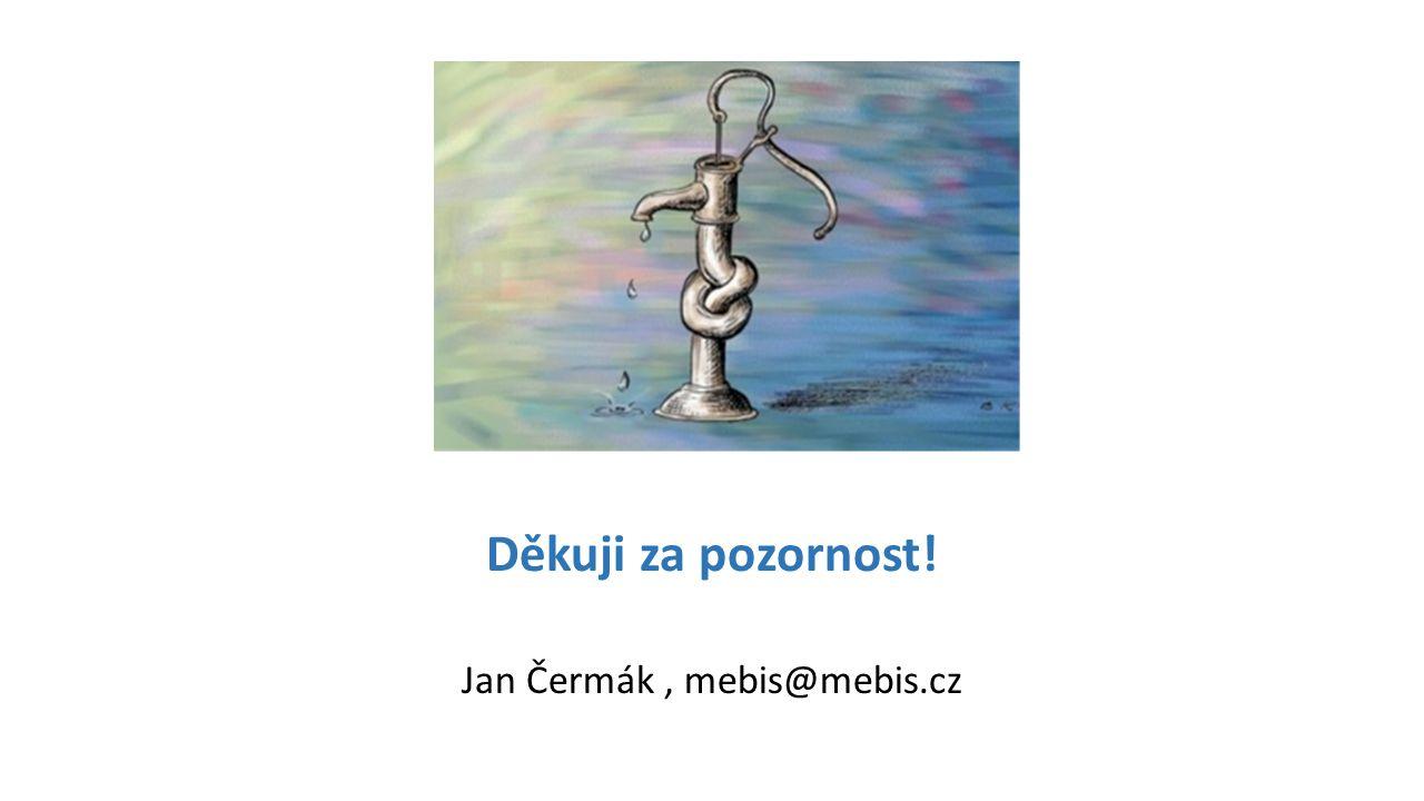 Děkuji za pozornost! Jan Čermák, mebis@mebis.cz