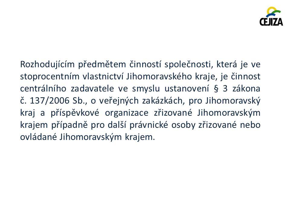 Rozdělení příspěvkových organizací Jihomoravského kraje do jednotlivých odborů: