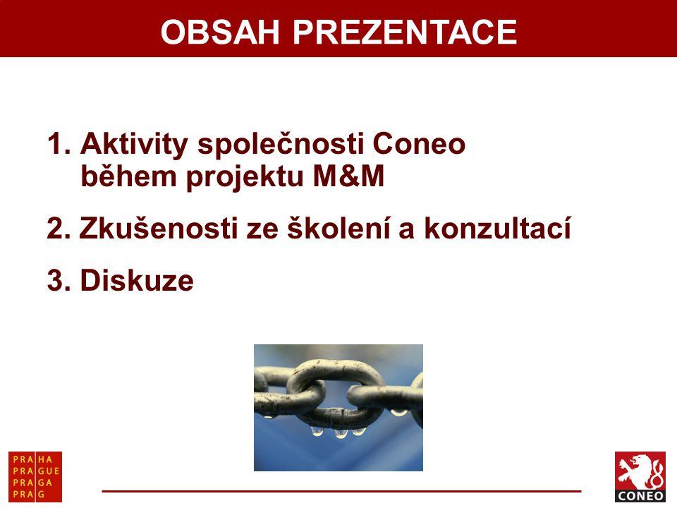 1.Aktivity společnosti Coneo během projektu M&M 2.