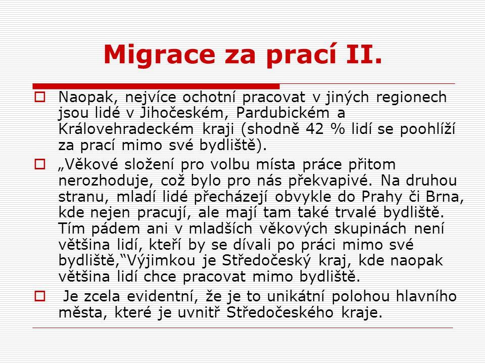 Migrace za prací II.