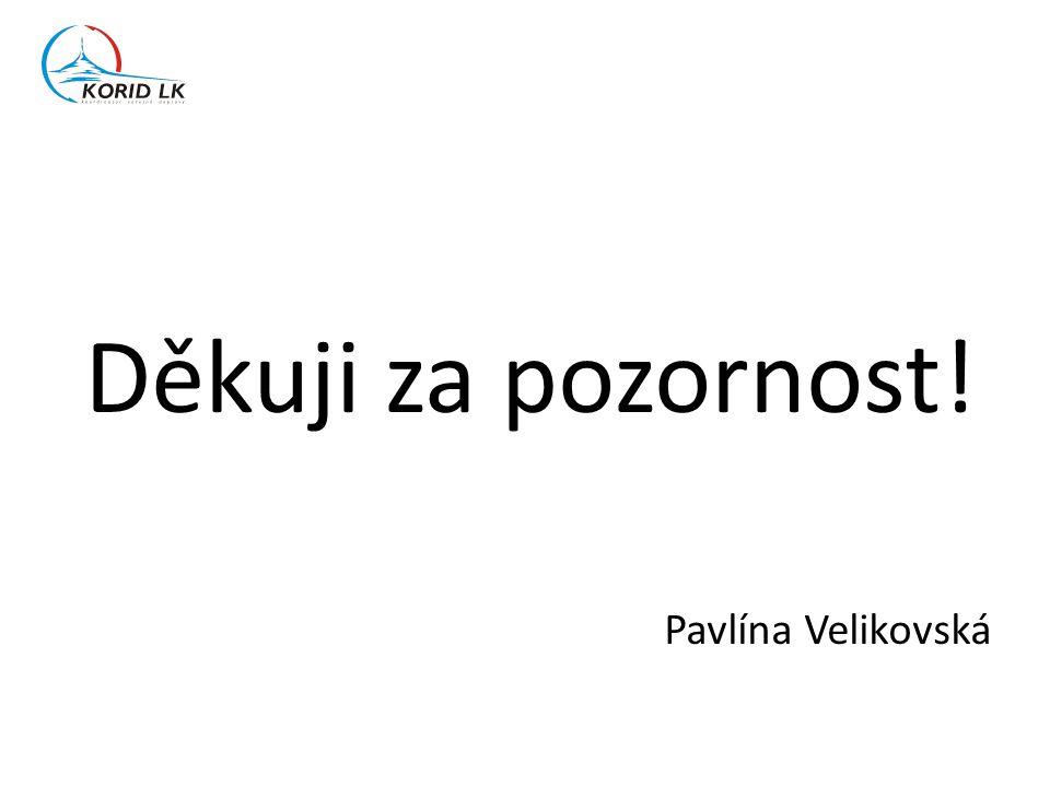 Děkuji za pozornost! Pavlína Velikovská