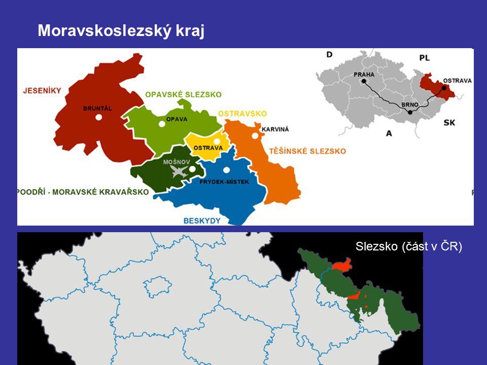 Moravskoslezský kraj Slezsko (část v ČR)