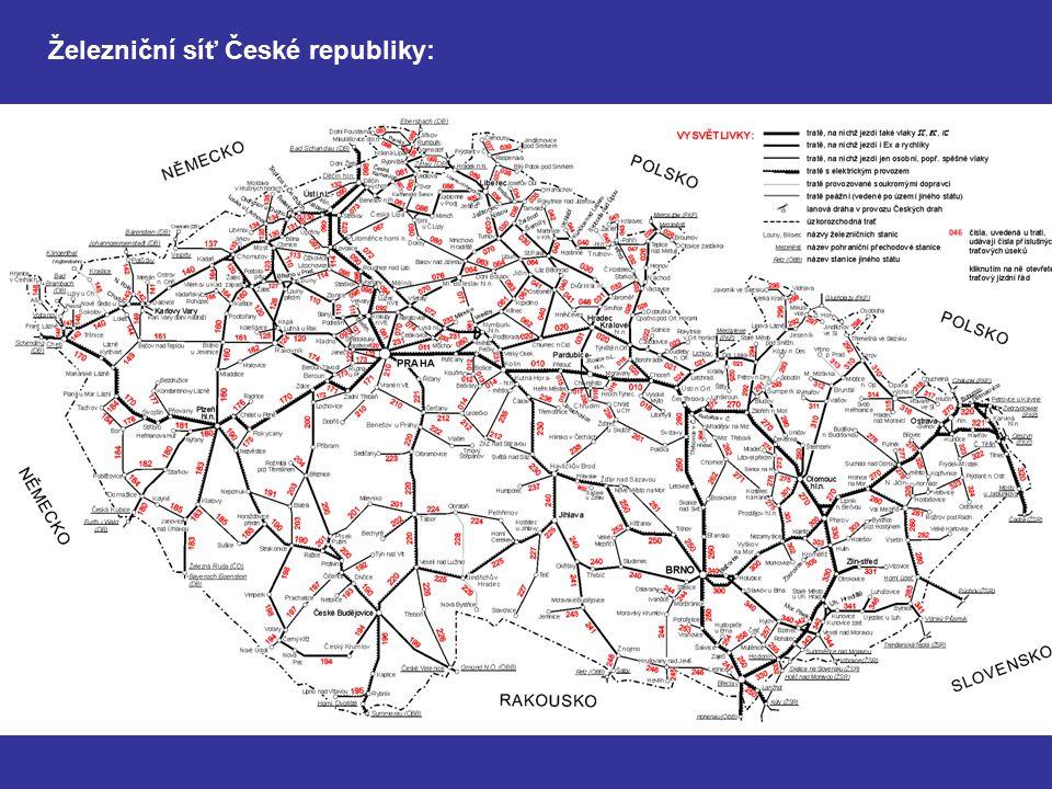 Železniční síť České republiky: