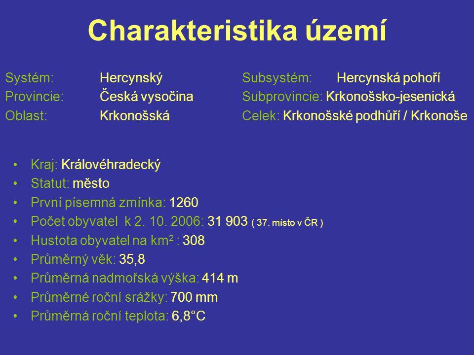 Charakteristika území Systém: HercynskýSubsystém:Hercynská pohoří Provincie:Česká vysočinaSubprovincie: Krkonošsko-jesenická Oblast:KrkonošskáCelek: K