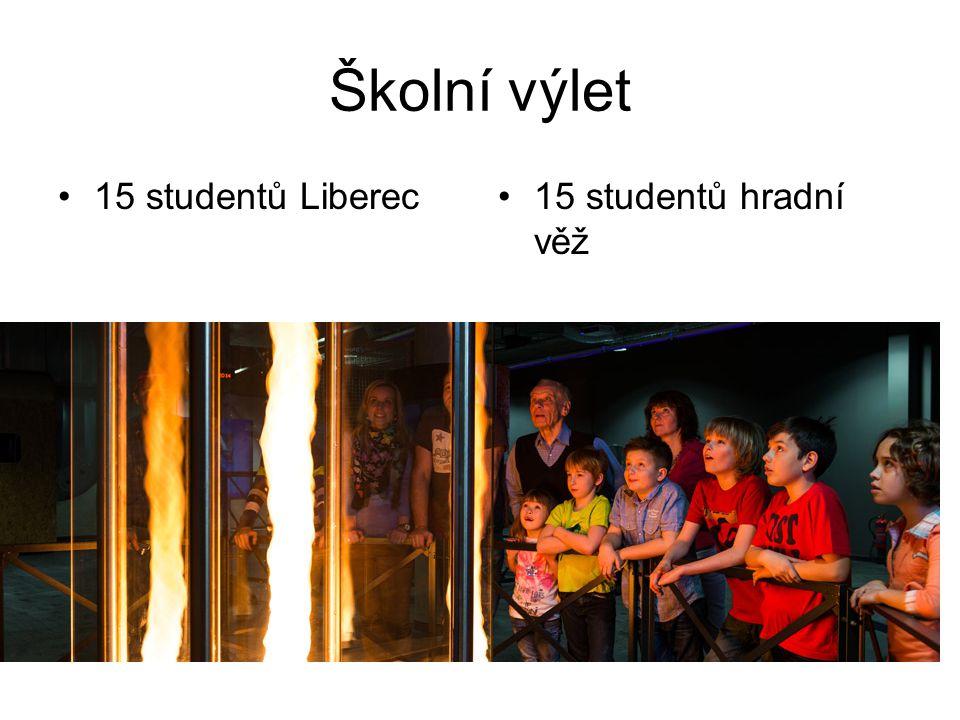 Školní výlet 15 studentů Liberec15 studentů hradní věž