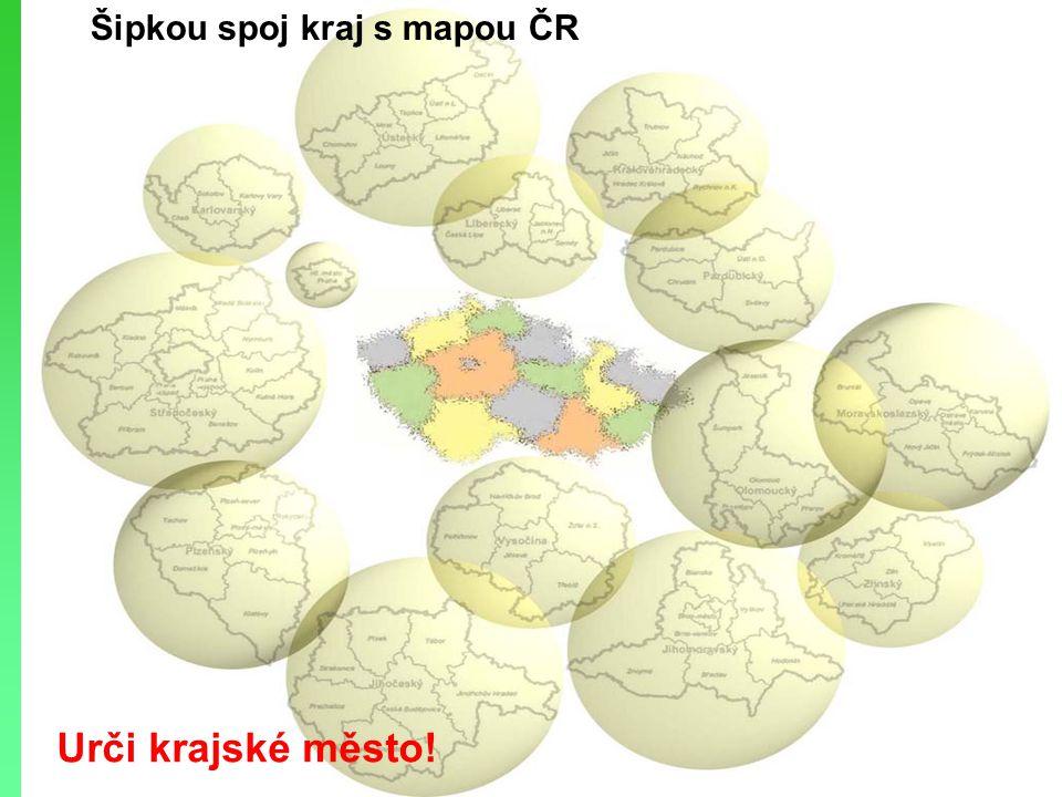 Mapa krajů Urči jejich názvy podle atlasu str. 5