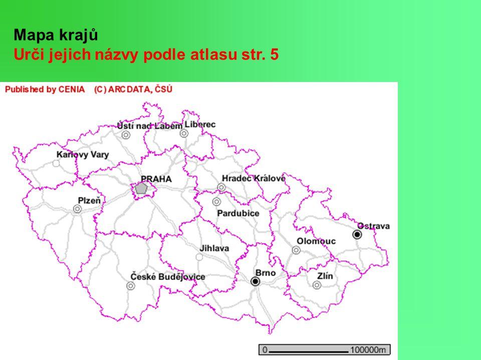 K významným městům daného kraje přiřaď průmysl (atlas str.