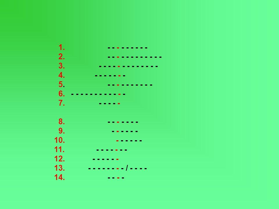 1. - - - - - - - - - 2. - - - - - - - - - - - - 3. - - - - - - - - - - - - - 4. - - - - - - - 5. - - - - - - - - - - 6. - - - - - - - - - - - - 7. - -