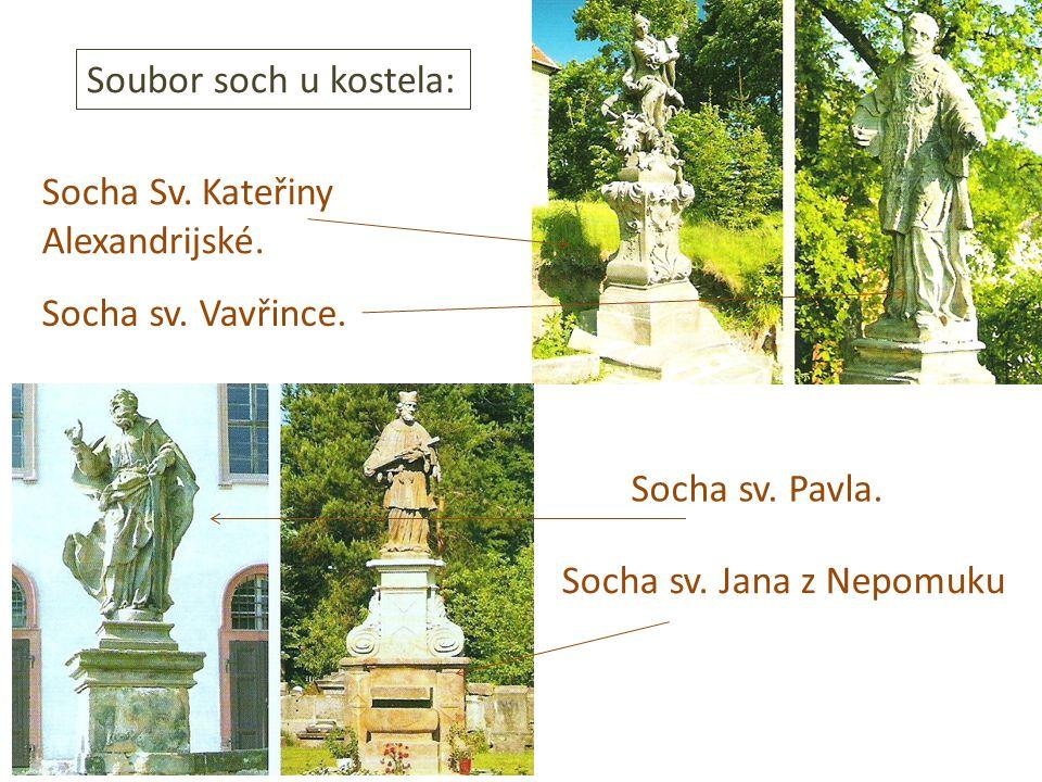 Socha Sv. Kateřiny Alexandrijské. Socha sv. Vavřince.