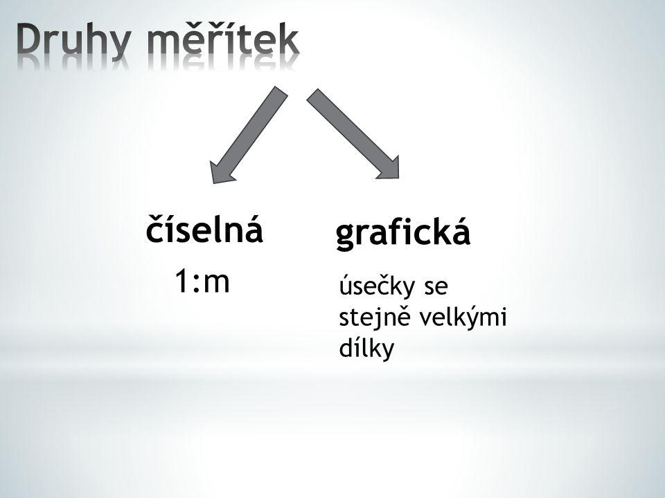 Zadání: 1.Na mapě ČR s měřítkem 1:3 000 000 je vzdálenost mezi Jihlavou a Libercem 5,3 cm.