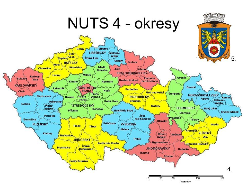 NUTS 4 - okresy 4. 5.