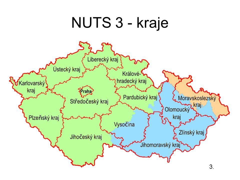 NUTS 3 - kraje 3.