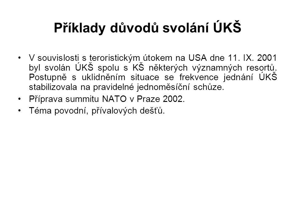 Kdy je předsedou ministr obrany? – v případě vnějšího vojenského ohrožení ČR, – při plnění spojeneckých závazků v zahraničí – při účasti ozbrojených s