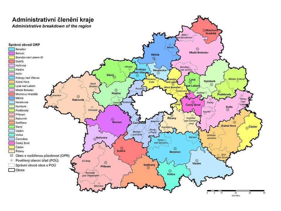 ORP je celkem 205 + 22 částí Prahy.