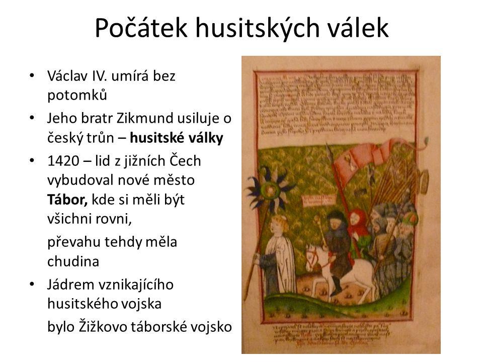 Počátek husitských válek Václav IV.
