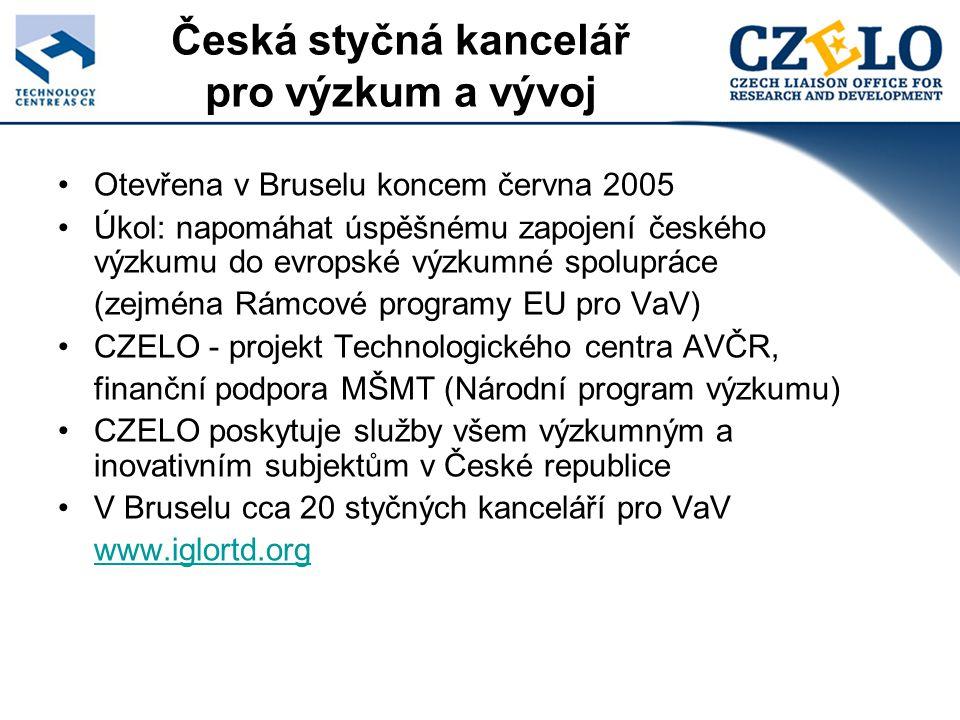 Služby CZELO 1.Poskytování cílených a aktuálních informací o příležitostech zapojení do mezinárodních výzkumných programů, a to zveřejňováním na webu, pravidelnou emailovou rozesílkou a individuálně na požádání; 2.Zajišťování předběžných a informativních jednání o návrzích výzkumných projektů s relevantními úředníky Evropské komise, příprava a zprostředkování setkání českých pracovišť s těmito úředníky za účelem jednání o probíhajících či zamýšlených projektech; 3.Hledání projektových partnerů, zprostředkovávání spolupráce se zahraničními vědeckovýzkumnými a inovačními pracovišti;