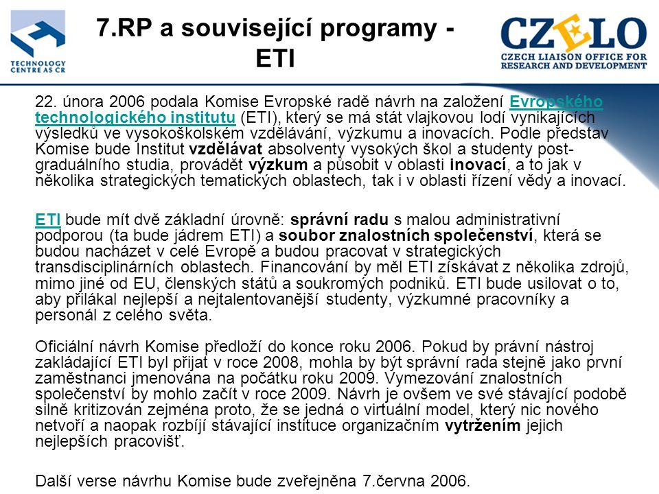 7.RP a související programy - ETI 22.