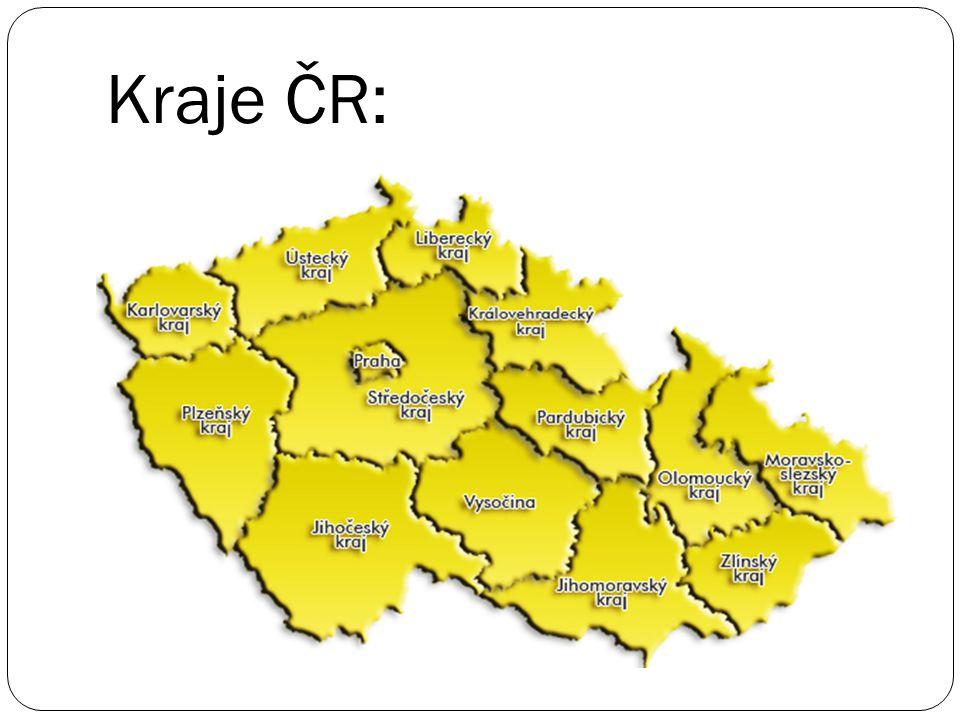 Kraje ČR: