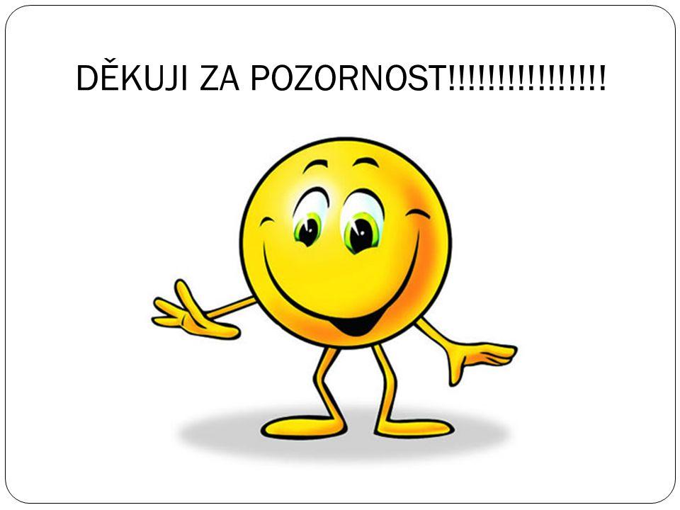 DĚKUJI ZA POZORNOST!!!!!!!!!!!!!!!!