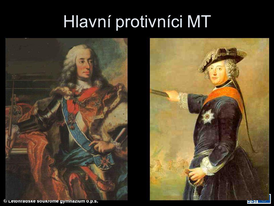 © Letohradské soukromé gymnázium o.p.s. Hlavní protivníci MT
