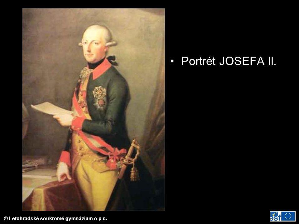 © Letohradské soukromé gymnázium o.p.s. Portrét JOSEFA II.