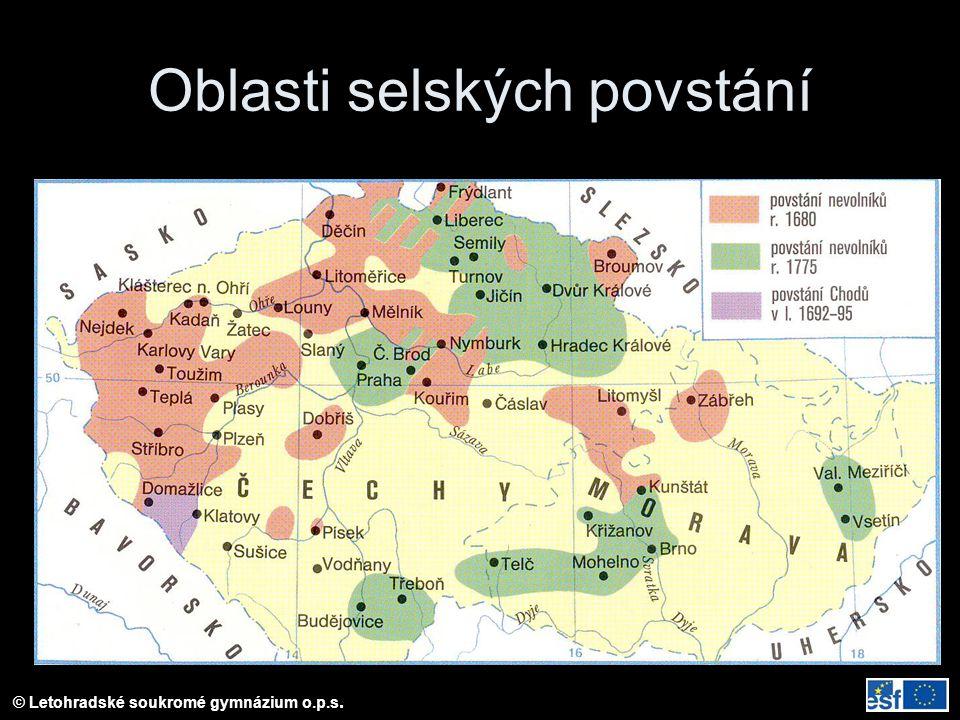 © Letohradské soukromé gymnázium o.p.s. Oblasti selských povstání