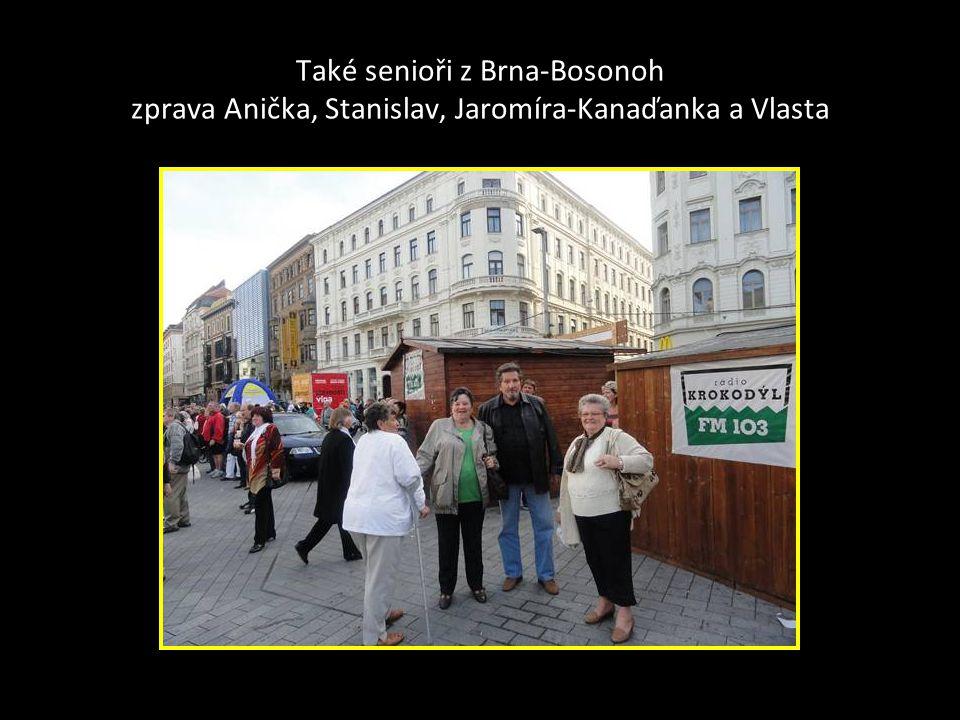Další senioři z Brna- Bosonoh zleva Jenda a Marie
