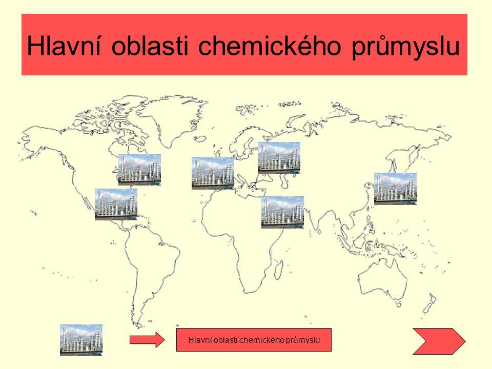 Hlavní oblasti chemického průmyslu