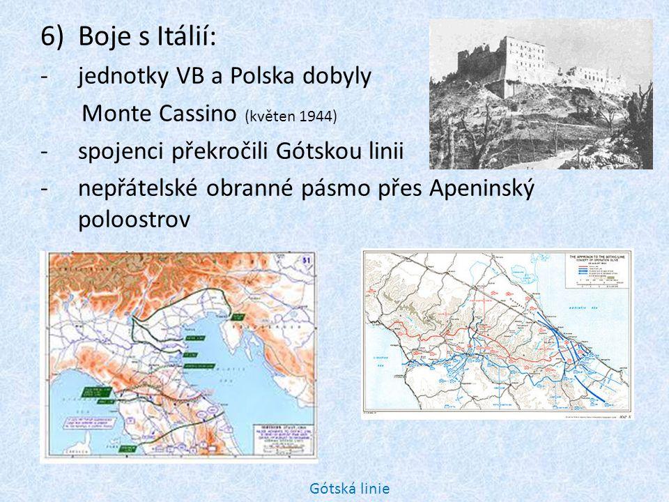 11) Řecko: -po válce mělo být ve východní sféře -v zemi převážil domácí západní odboj a země byla přiřazena do sféry západní 12) Kapitulace Finska (léto 1944): 13) Válečné fronty se přiblížily k hranicím Německa.