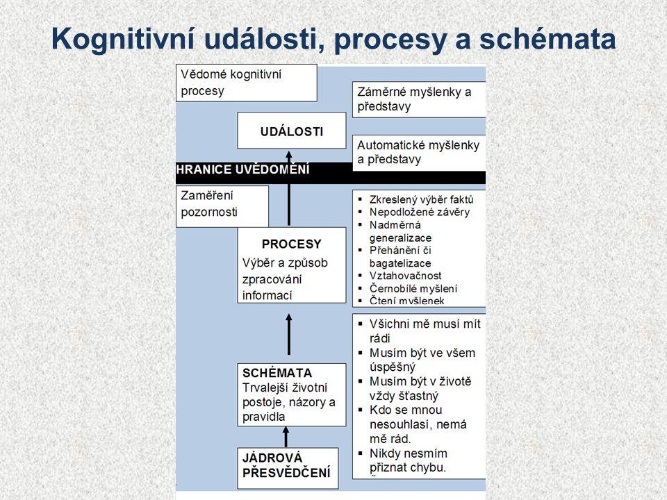 Kognitivní události, procesy a schémata