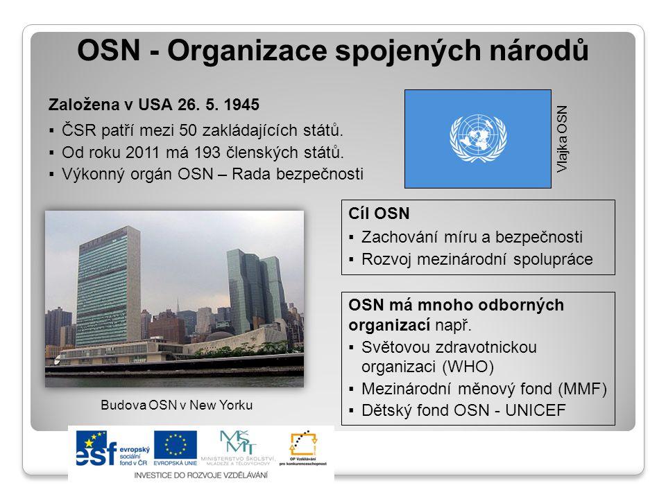 Organizace spojených národů Mapa členských států OSN Téměř všechny státy světa jsou členy OSN.