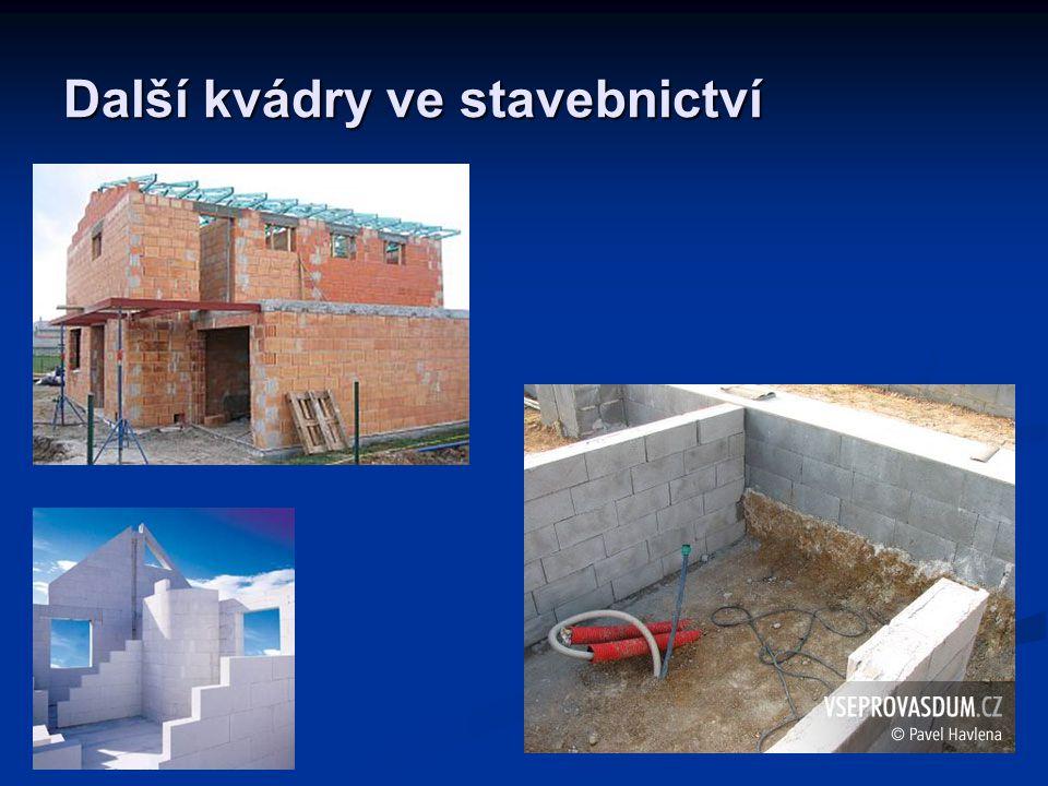 Další kvádry ve stavebnictví
