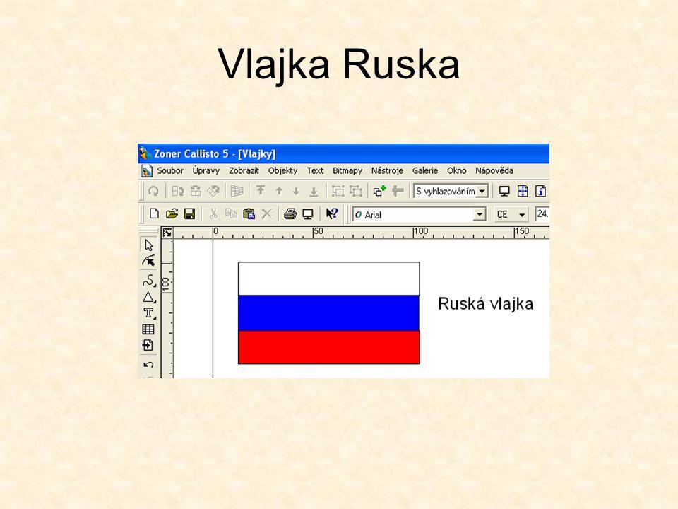 Vlajka České republiky Vytvoříme obdélník x=100mm, y=50mm.