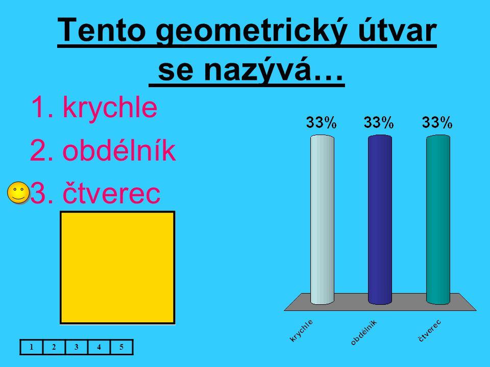 Tento geometrický útvar se nazývá… 1.krychle 2.obdélník 3.čtverec 12345