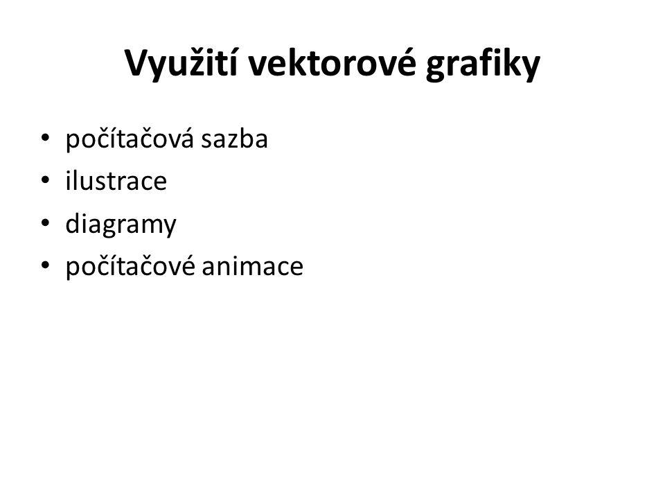Využití vektorové grafiky počítačová sazba ilustrace diagramy počítačové animace