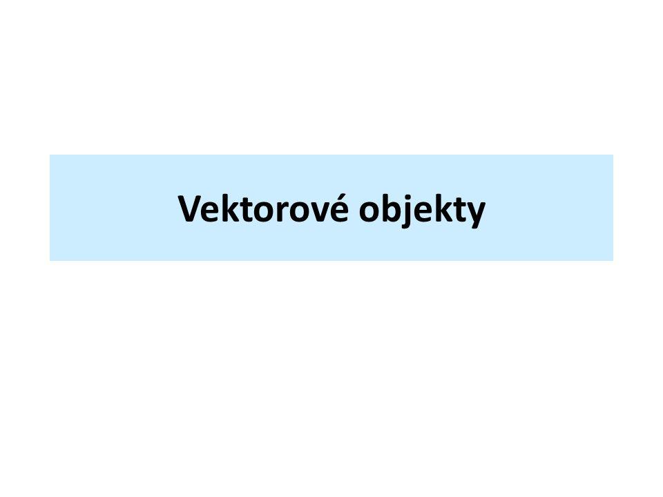 Vektorové objekty