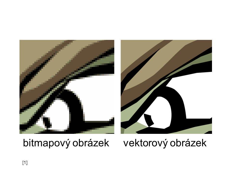 [1] bitmapový obrázek vektorový obrázek