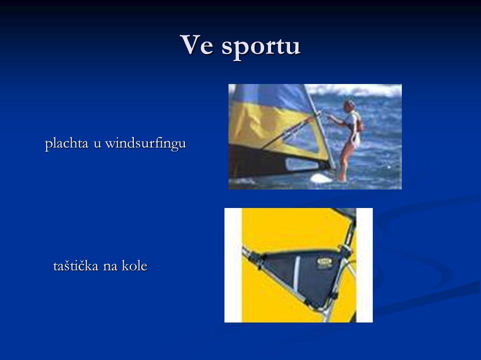 Ve sportu plachta u windsurfingu plachta u windsurfingu taštička na kole