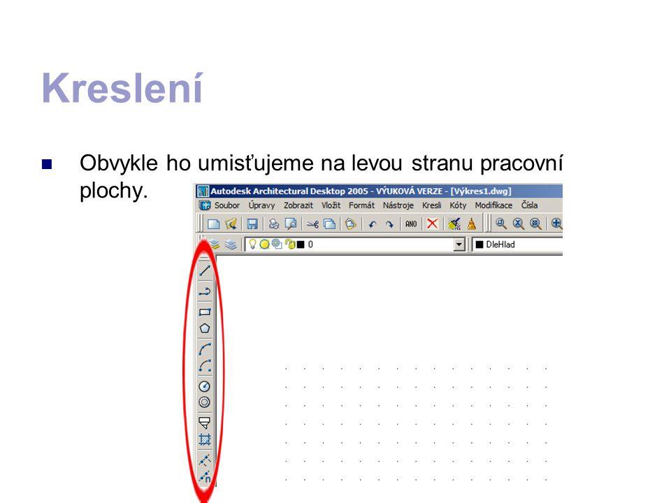 Objekt stejných vlastností lze nakreslit příkazem obdélník.
