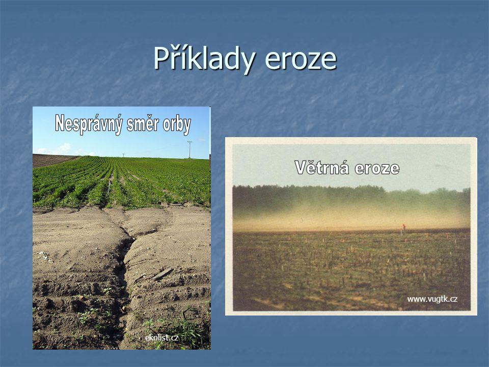 Příklady eroze ekolist.cz www.vugtk.cz