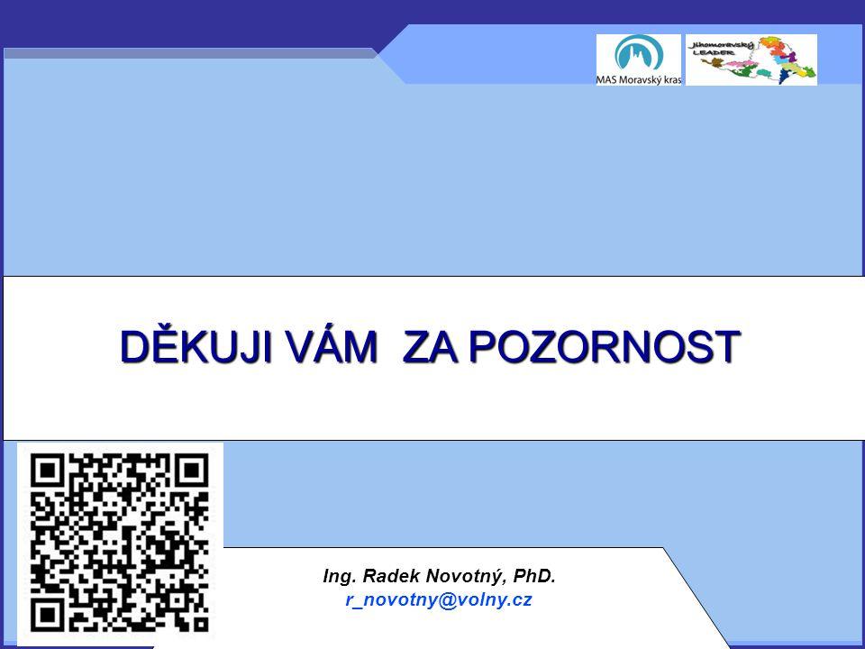 DĚKUJI VÁM ZA POZORNOST Ing. Radek Novotný, PhD. r_novotny@volny.cz