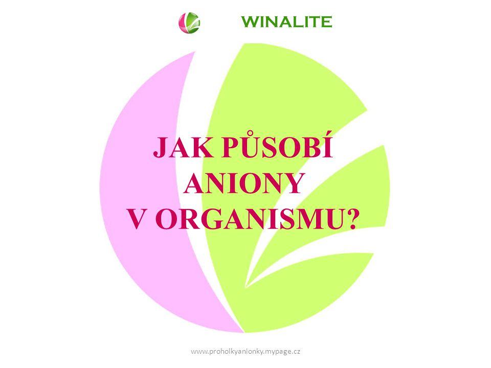 WINALITE JAK PŮSOBÍ ANIONY V ORGANISMU www.proholkyanionky.mypage.cz