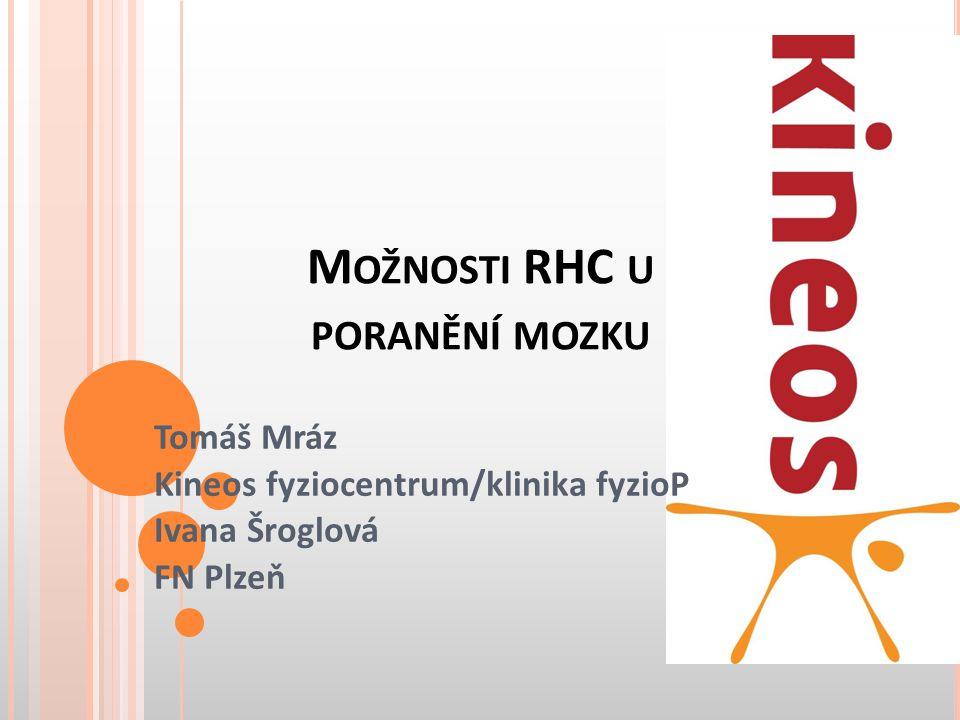 M OŽNOSTI RHC U PORANĚNÍ MOZKU Tomáš Mráz Kineos fyziocentrum/klinika fyzioP Ivana Šroglová FN Plzeň