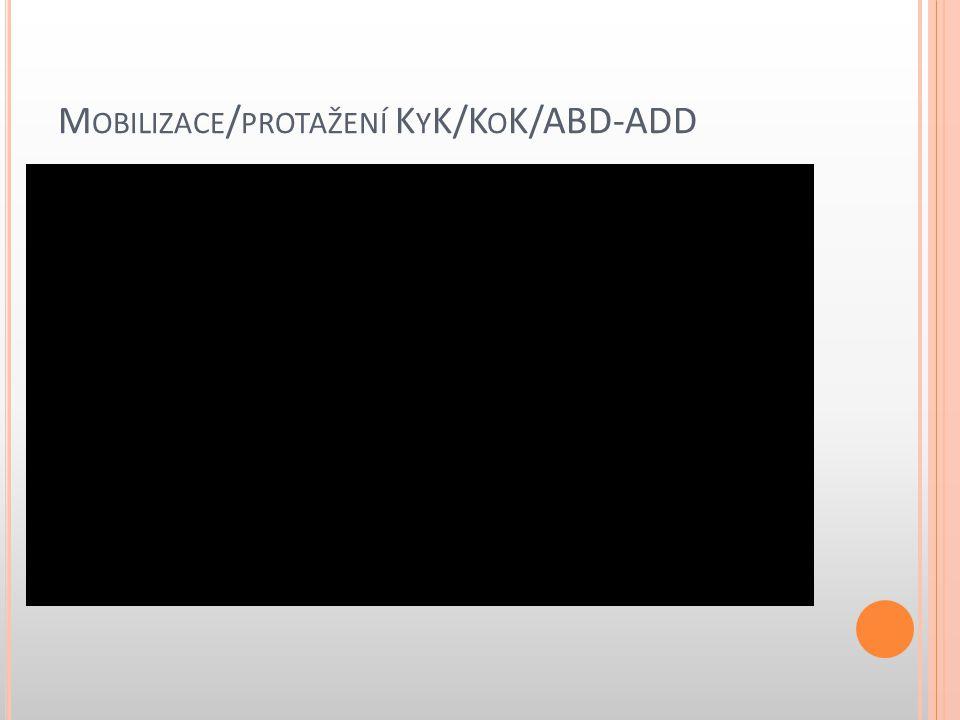 M OBILIZACE / PROTAŽENÍ K Y K/K O K/ABD-ADD