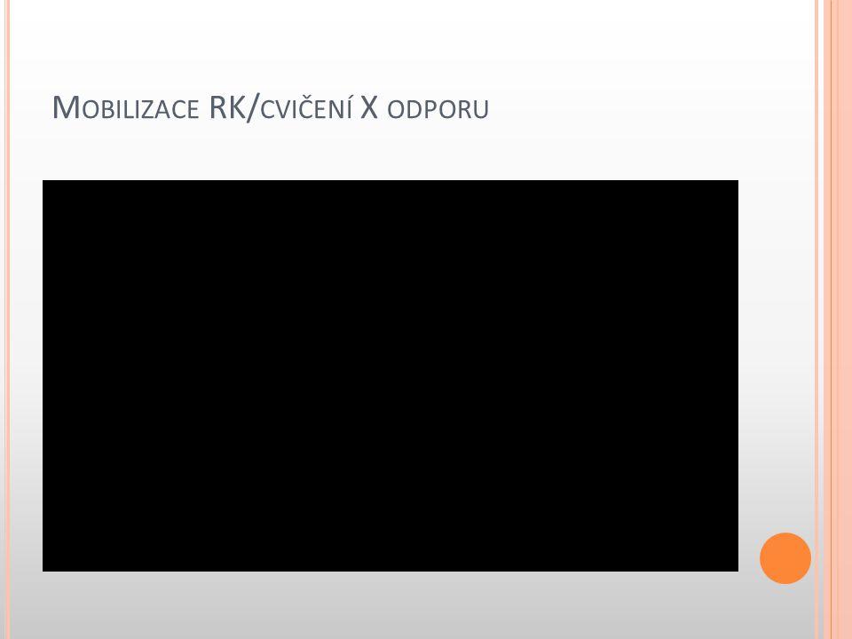 M OBILIZACE RK/ CVIČENÍ X ODPORU