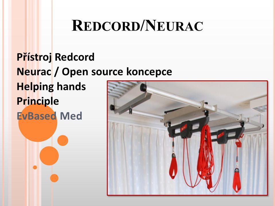 R EDCORD /N EURAC Přístroj Redcord Neurac / Open source koncepce Helping hands Principle EvBased Med